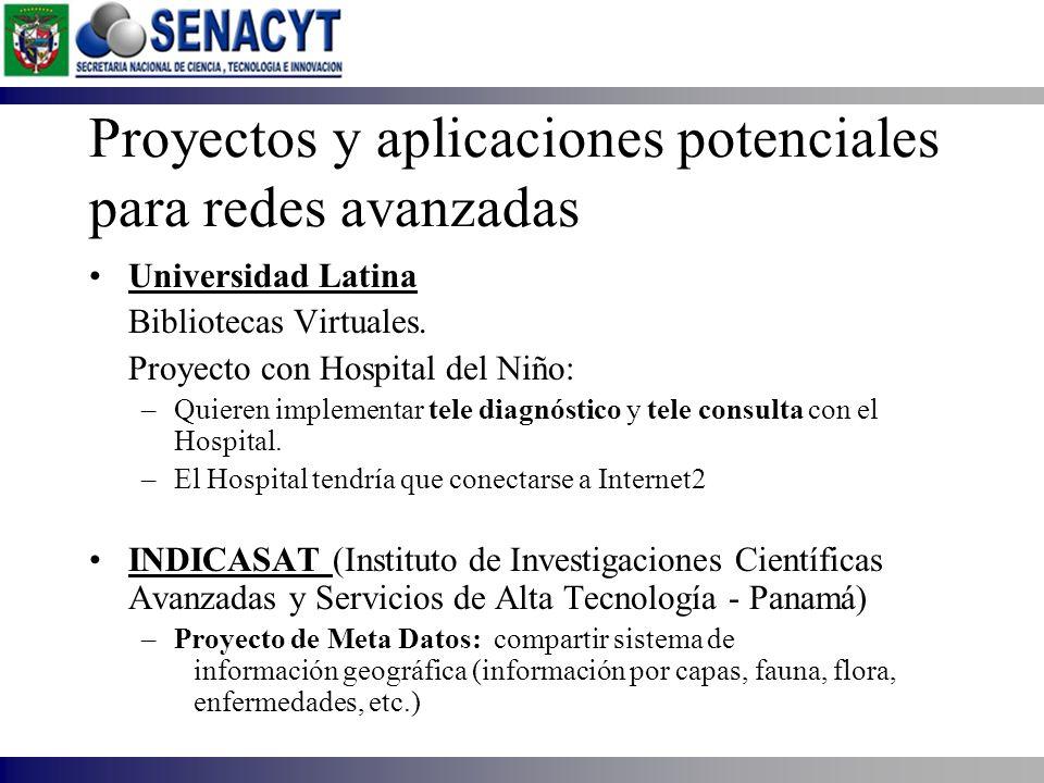 Universidad Latina Bibliotecas Virtuales. Proyecto con Hospital del Niño: –Quieren implementar tele diagnóstico y tele consulta con el Hospital. –El H
