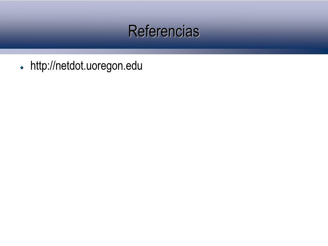 Referencias http://netdot.uoregon.edu