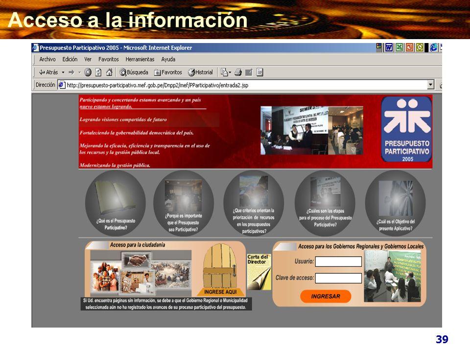 Acceso a la información 39