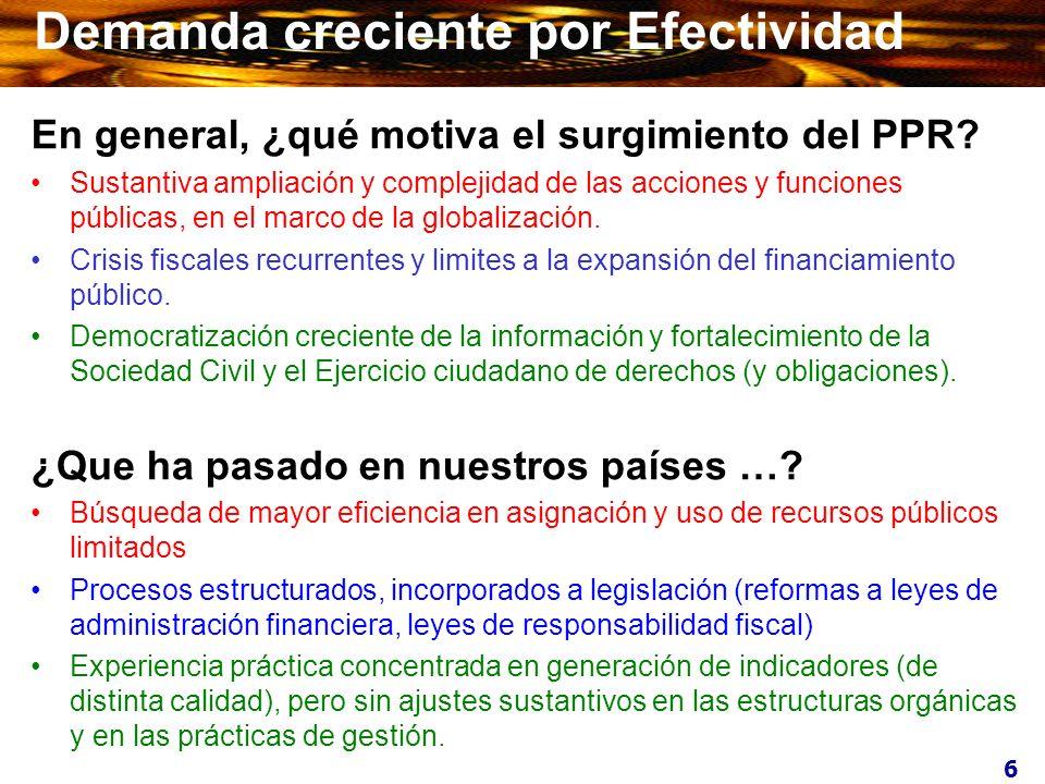 7 Demanda creciente por Efectividad ¿Y en los países desarrollados …..