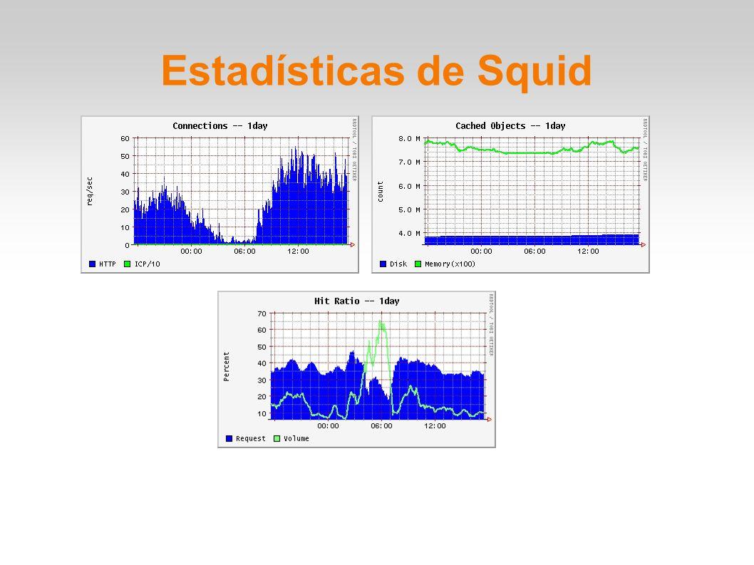 Estadísticas de Squid