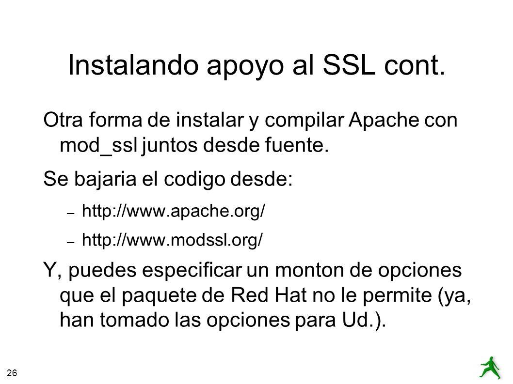 26 Instalando apoyo al SSL cont.