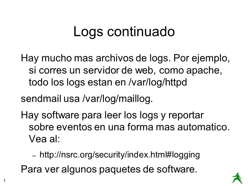 1 Logs continuado Hay mucho mas archivos de logs.