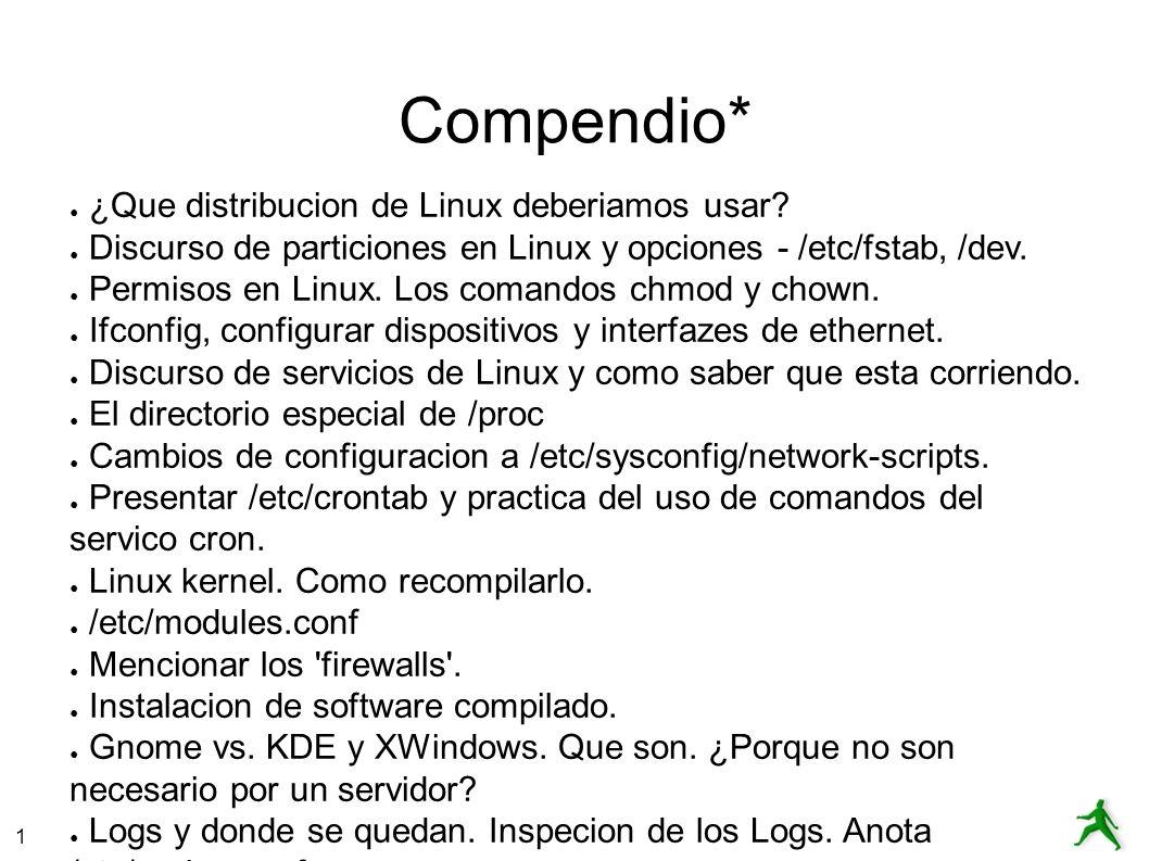 1 Compendio* ¿Que distribucion de Linux deberiamos usar.