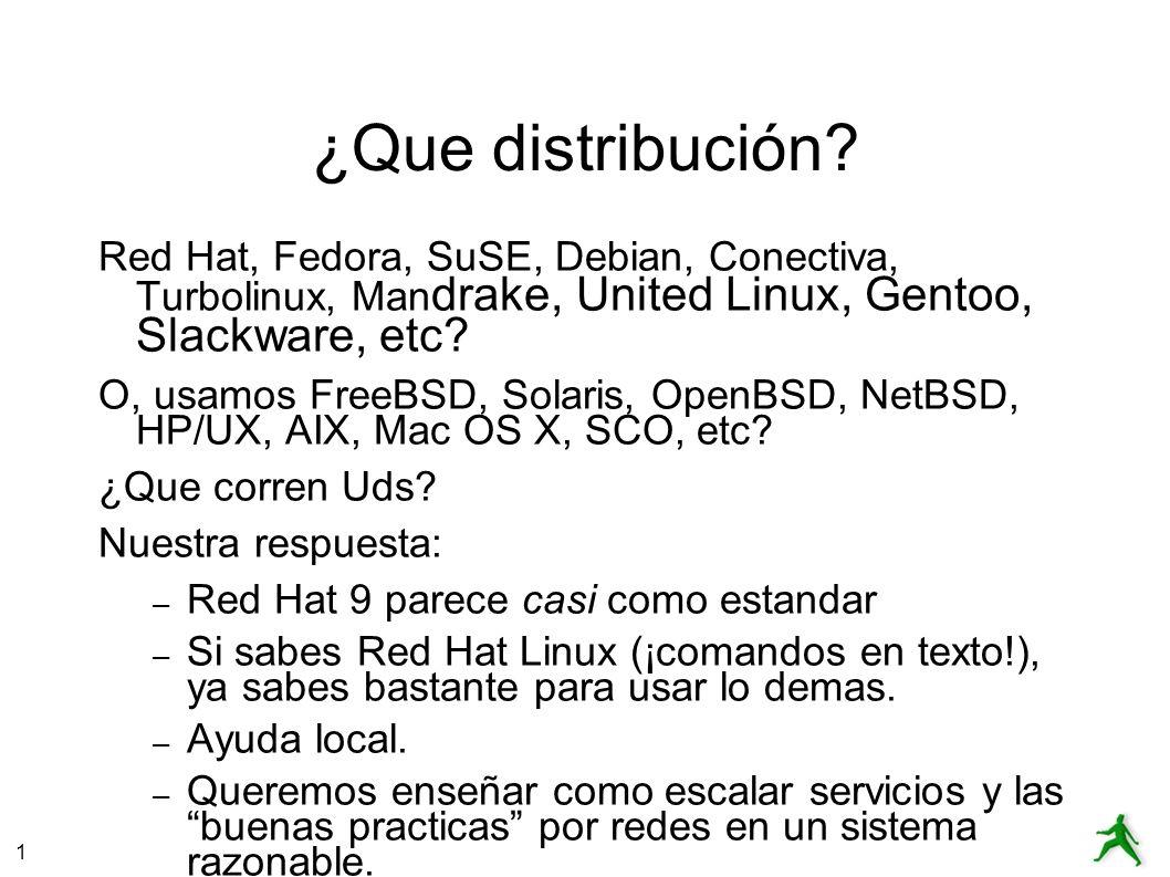 1 ¿Que distribución.