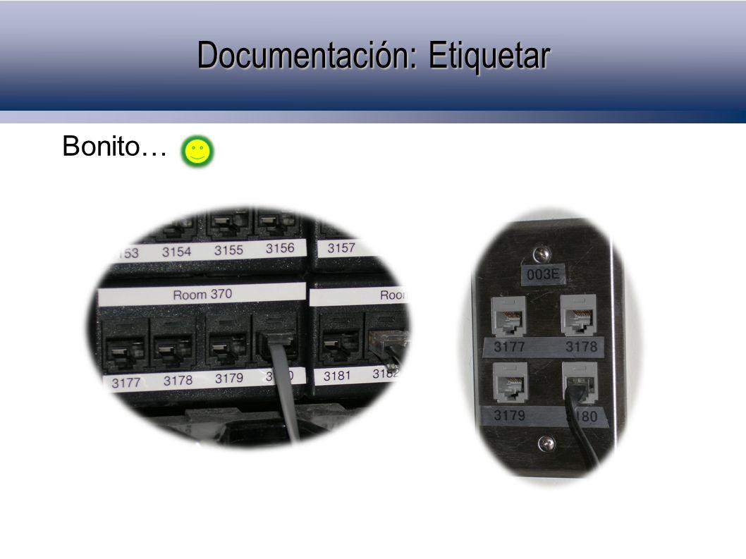 Bonito… Documentación: Etiquetar