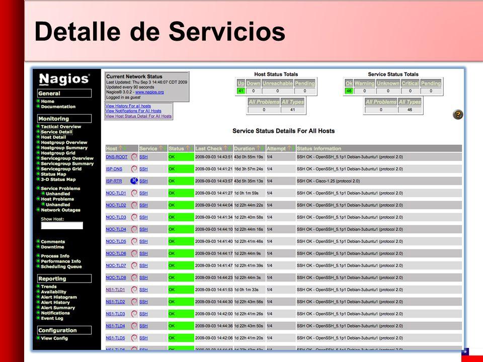 Detalle de Servicios