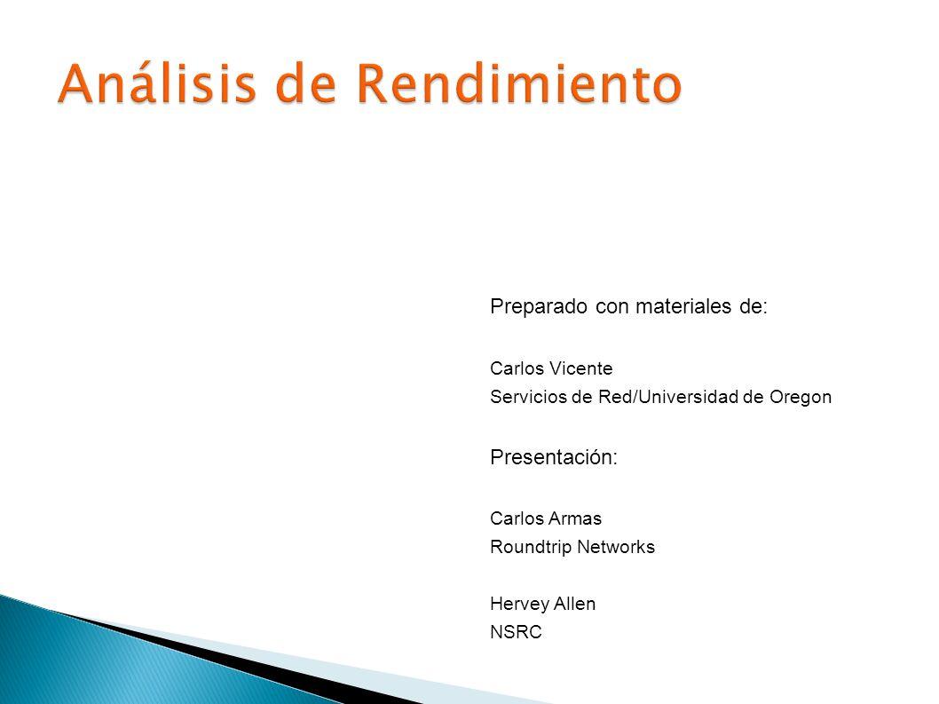 Preparado con materiales de: Carlos Vicente Servicios de Red/Universidad de Oregon Presentación: Carlos Armas Roundtrip Networks Hervey Allen NSRC