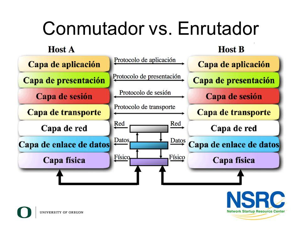 Conmutador vs. Enrutador