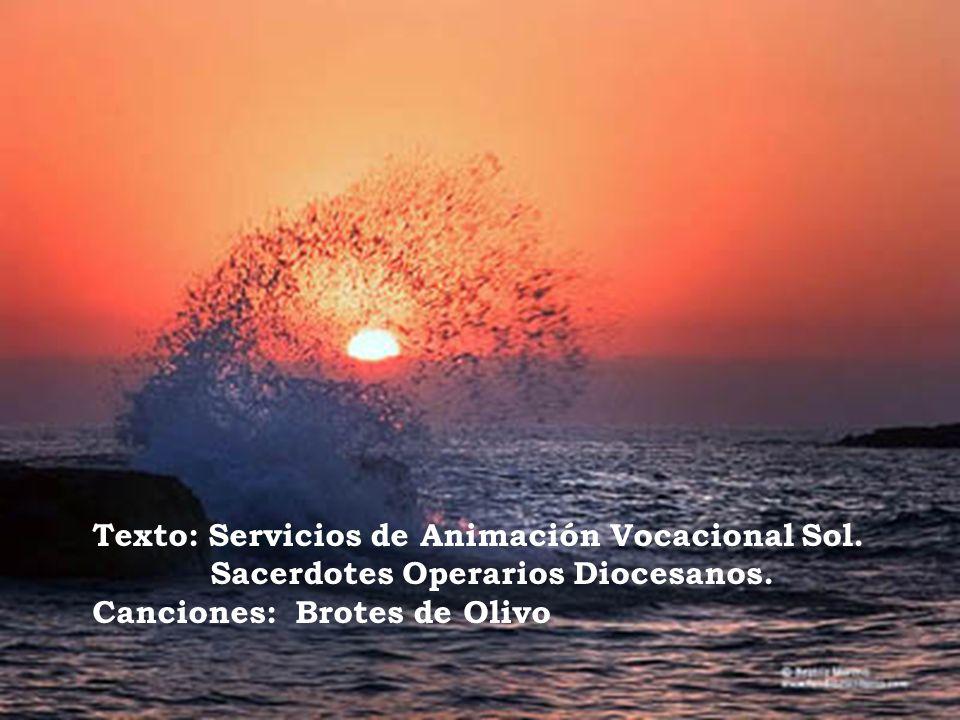 Texto: Servicios de Animación Vocacional Sol. Sacerdotes Operarios Diocesanos. Canciones: Brotes de Olivo