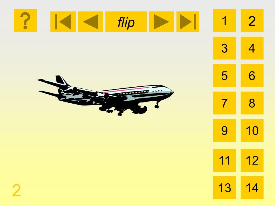 1 3 2 4 5 7 6 8 910 1112 1314 flip 2 el avión