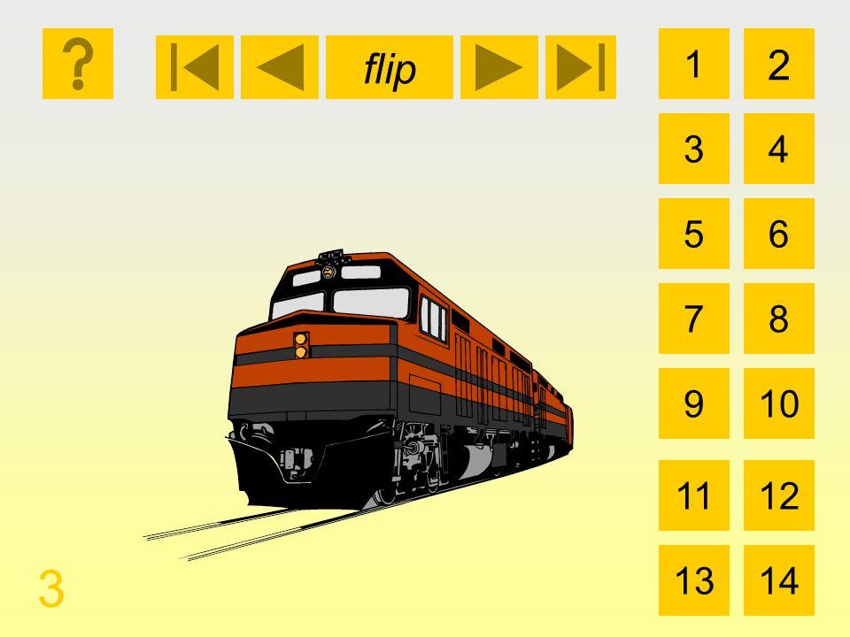 1 3 2 4 5 7 6 8 910 1112 1314 flip 3 el tren