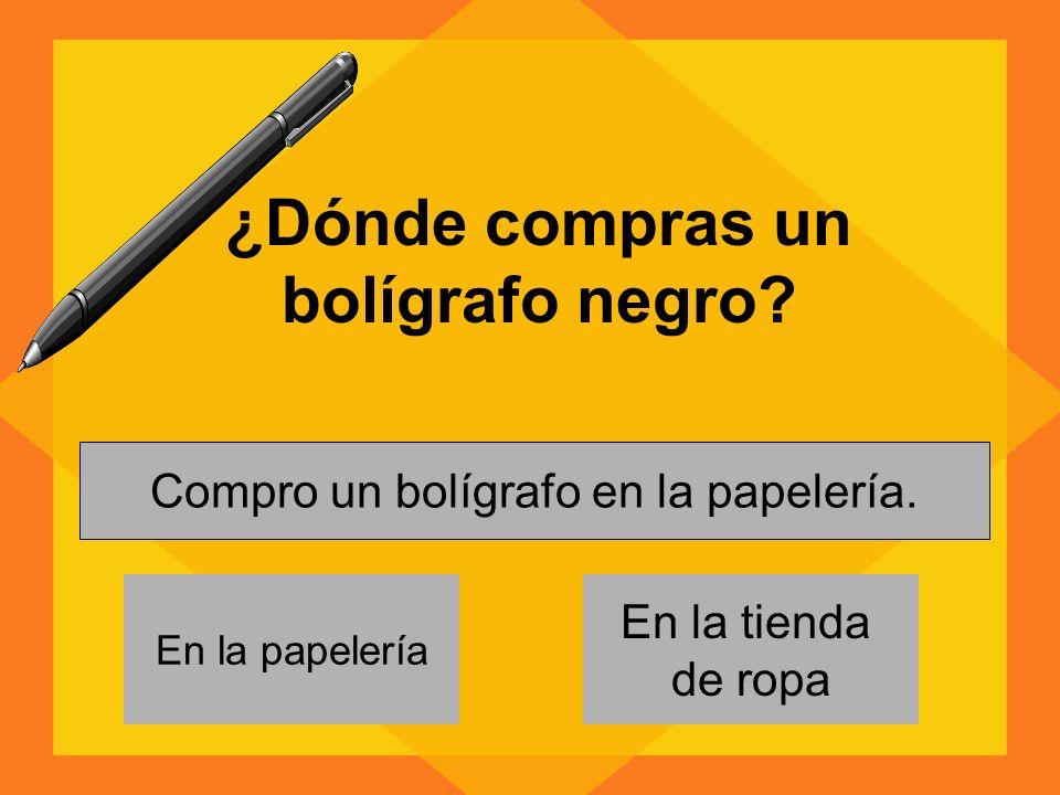 ¿Dónde compras un bolígrafo negro.