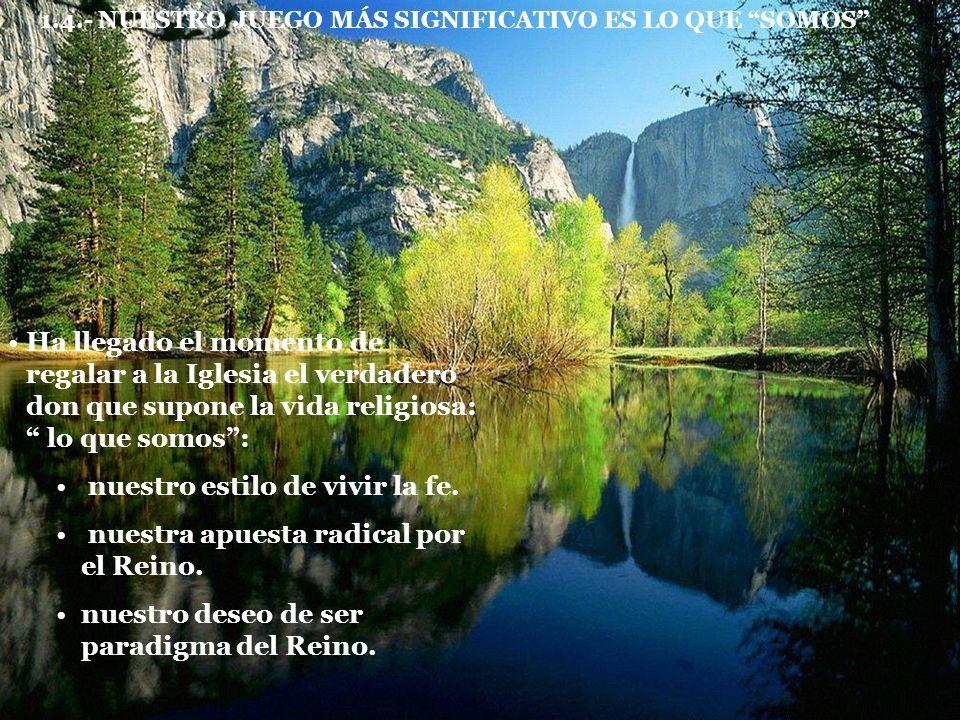 1.5.- ALGUNAS DEMANDAS QUE LOS JÓVENES HACEN HOY A LA VIDA RELIGIOSAS La comunidad como lugar de encuentro de los hermanos.