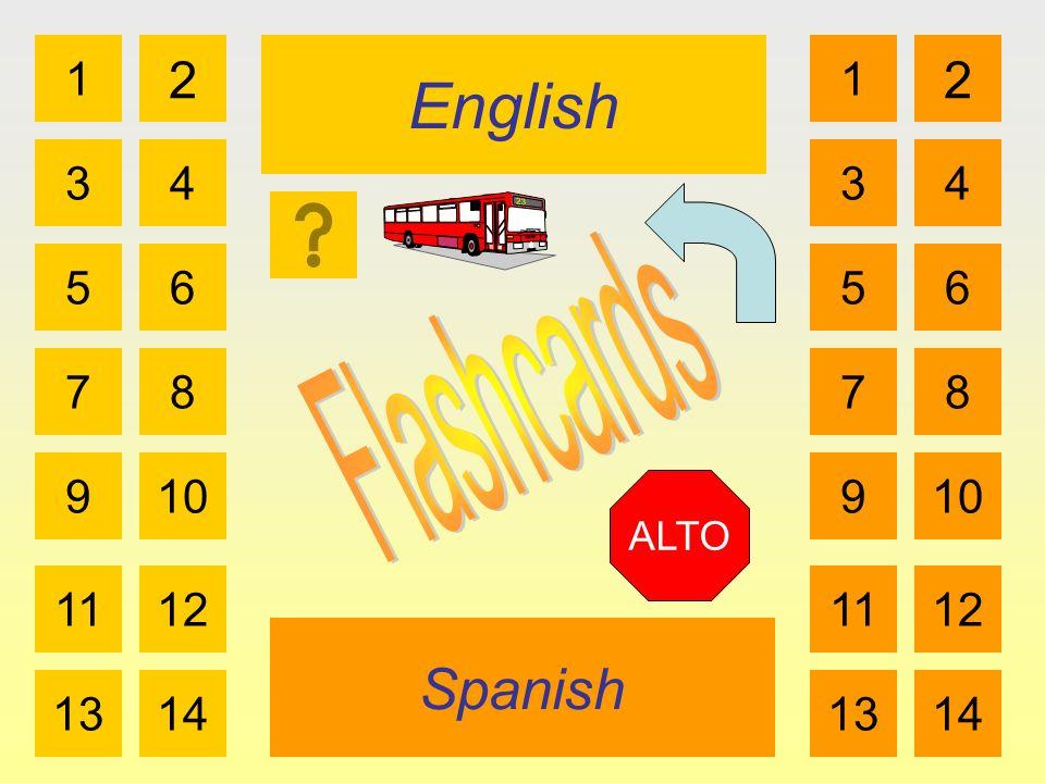 English Spanish 1 3 2 4 5 7 6 8 910 1112 1314 1 3 2 4 5 7 6 8 910 1112 1314 ALTO