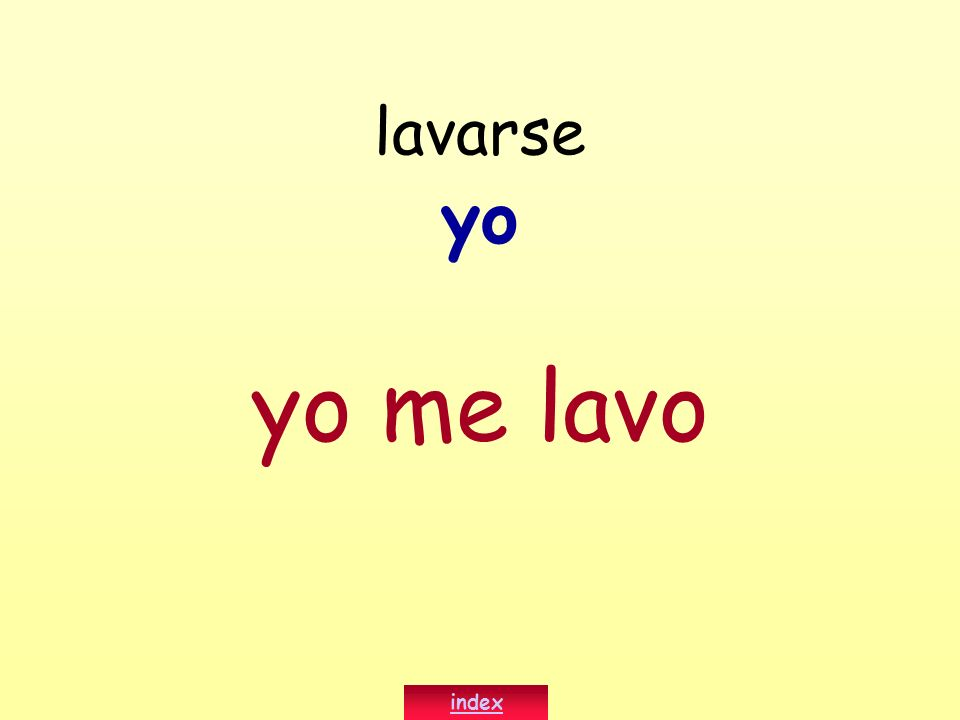 yo me lavo lavarse yo index
