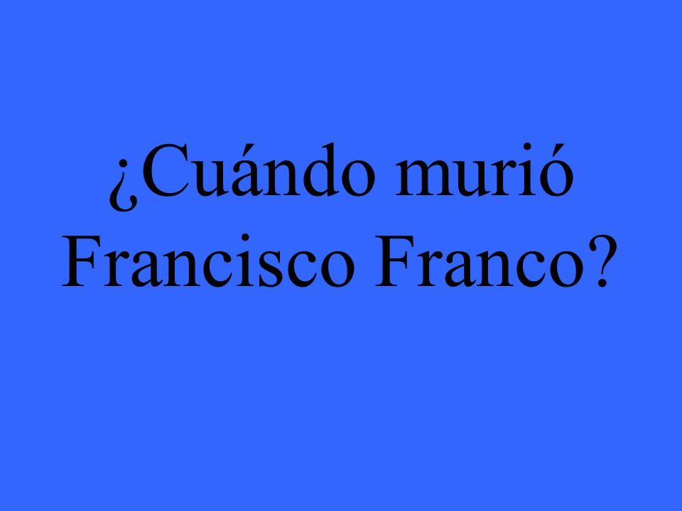 ¿Cuándo murió Francisco Franco