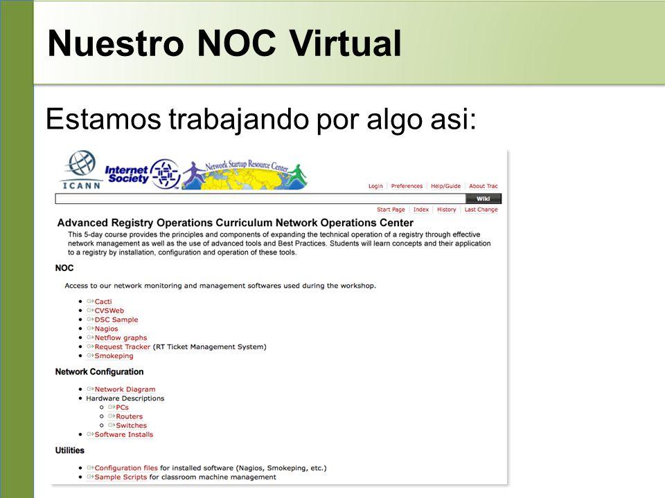 Nuestro NOC Virtual Estamos trabajando por algo asi: