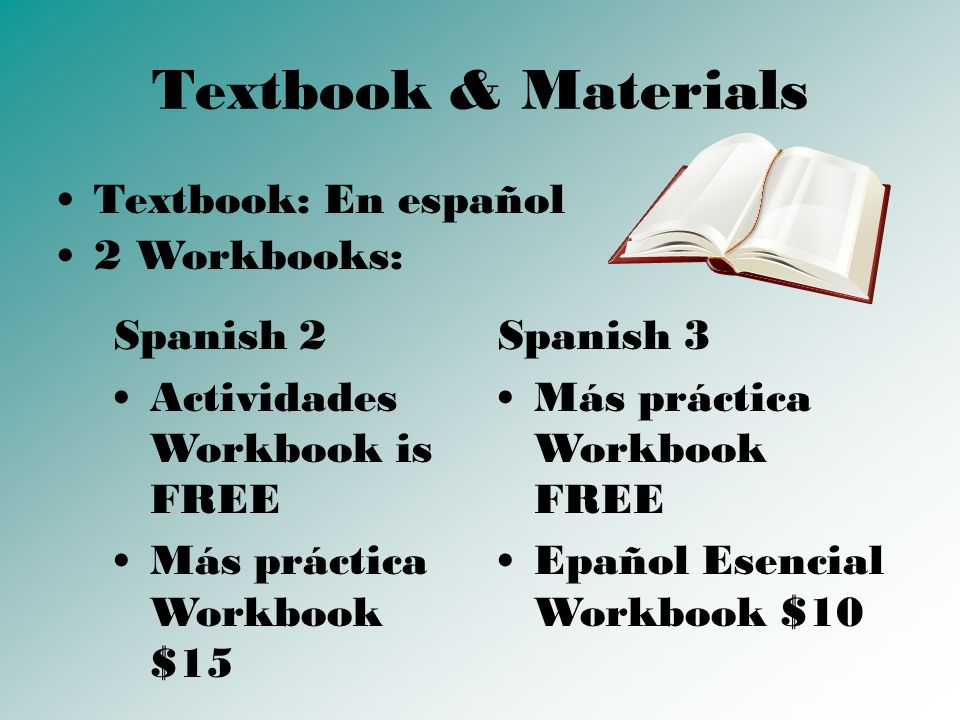 Other Materials Binder, Section of a Binder or Folder for Spanish only papers Paper Pens, Pencils, Highlighters