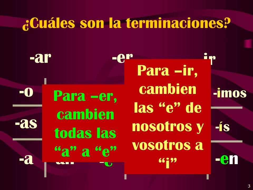 2 ¿Cuáles son los pronombres personales? (Subject Pronouns) Singular yo tú él / ella / Ud. Plural nosotros vosotros ellos / ellas / Uds.