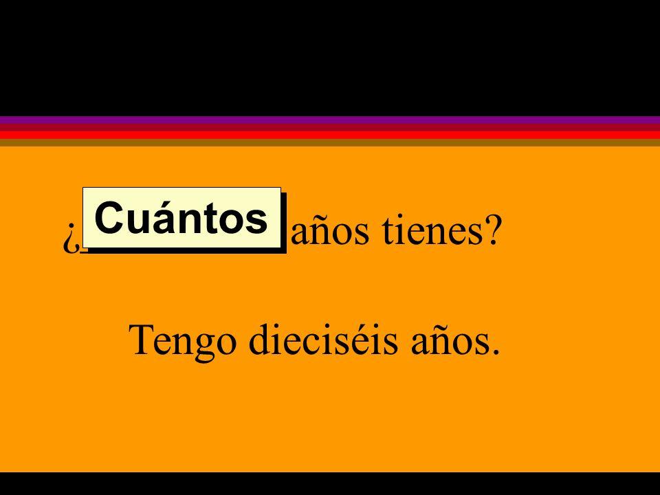 ¿___________ es el examen en la clase de español? El examen es el jueves de esta semana. Cuándo