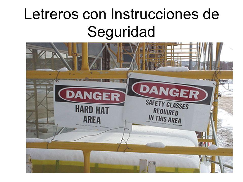 Letreros con Instrucciones de Seguridad