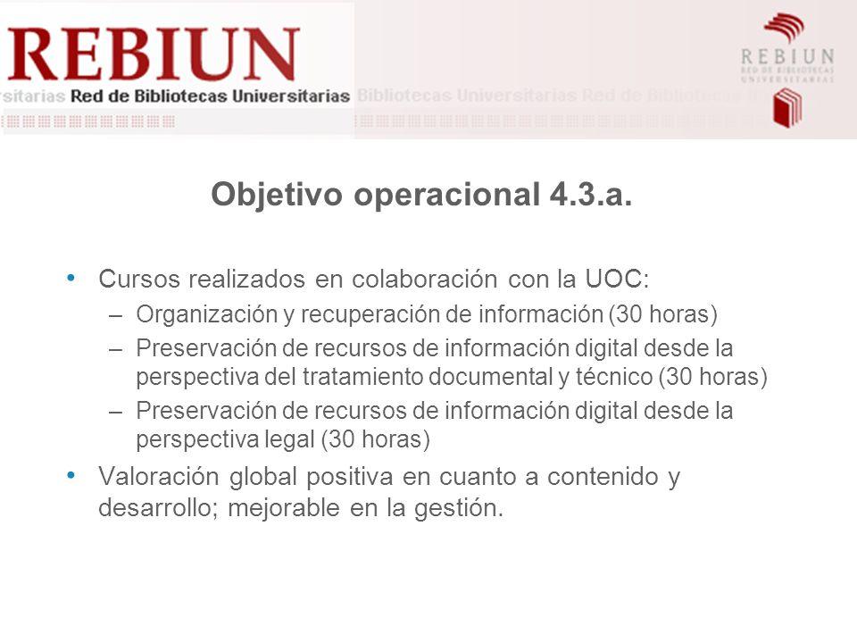 Objetivo operacional 4.3.a.
