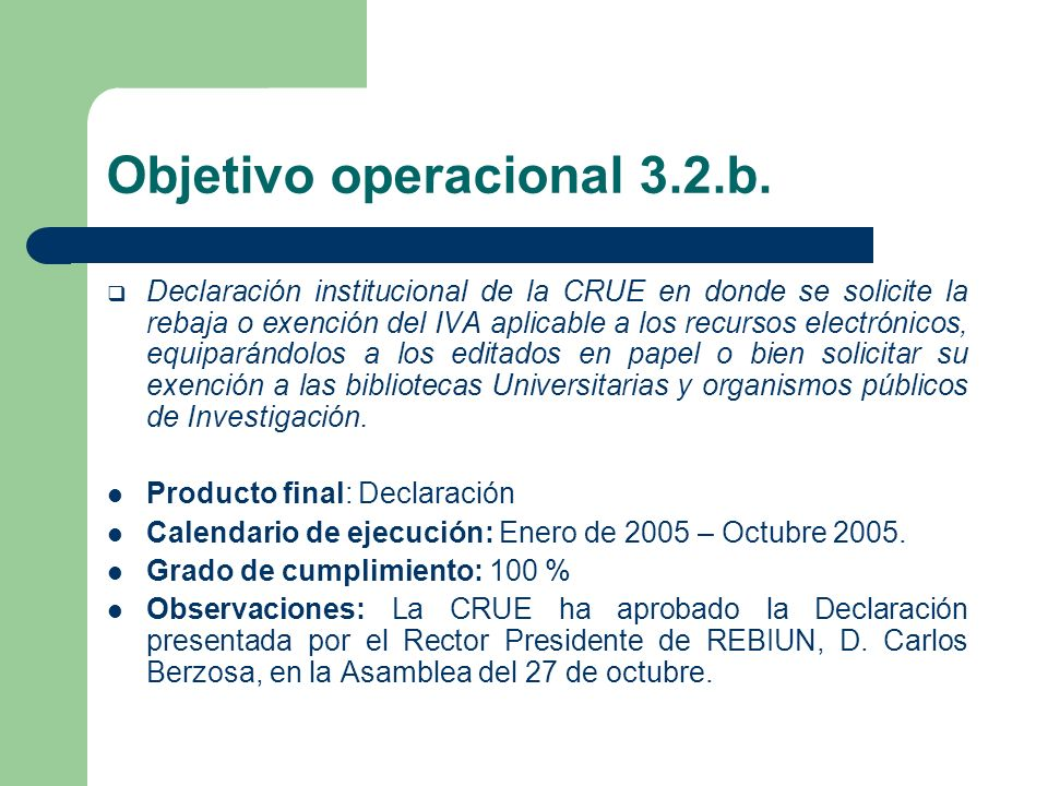 Objetivo operacional 3.2.c.