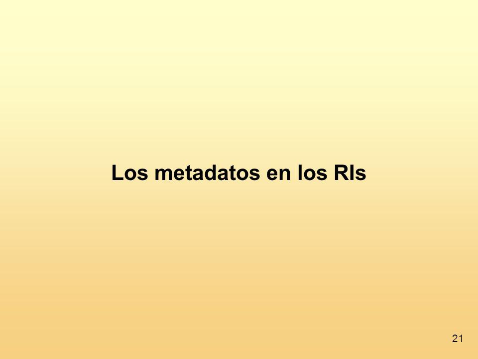 21 Los metadatos en los RIs