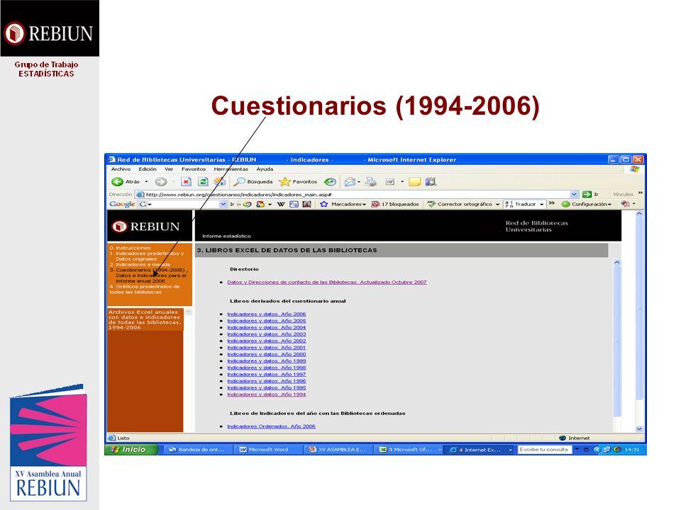Cuestionarios (1994-2006)