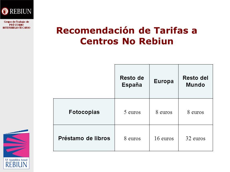 Propuesta para bibliotecas extranjeras (principalmente latinoamericanas) Pensado para bibliotecas extranjeras que usan poco Centros Rebiun y no siempre el mismo Para que puedan pagar a través de una cuenta común que gestione Rebiun.