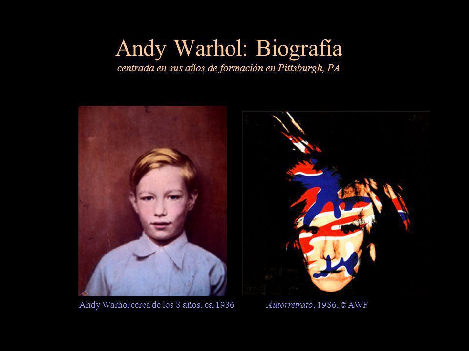 Andy Warhol: Biografía centrada en sus años de formación en Pittsburgh, PA Andy Warhol cerca de los 8 años, ca.1936Autorretrato, 1986, © AWF
