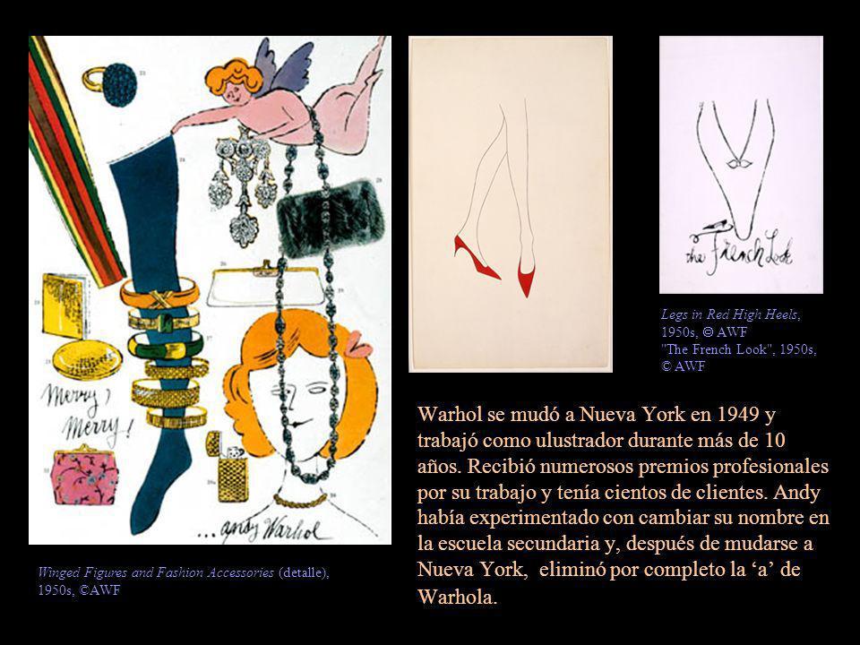 Warhol se mudó a Nueva York en 1949 y trabajó como ulustrador durante más de 10 años. Recibió numerosos premios profesionales por su trabajo y tenía c
