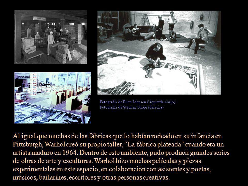 Al igual que muchas de las fábricas que lo habían rodeado en su infancia en Pittsburgh, Warhol creó su propio taller, La fábrica plateada cuando era u