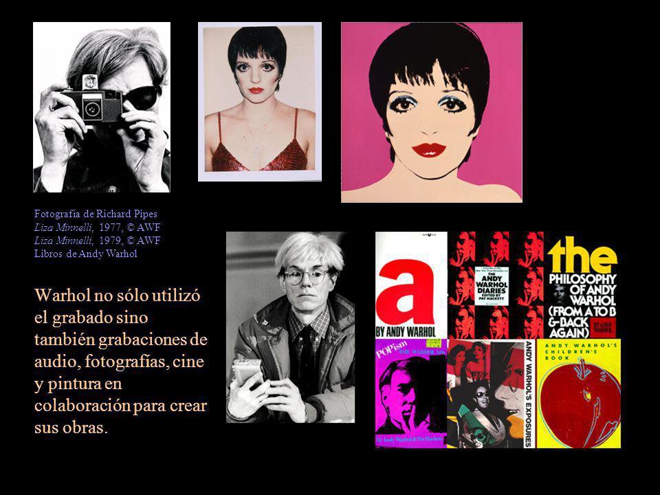Warhol no sólo utilizó el grabado sino también grabaciones de audio, fotografías, cine y pintura en colaboración para crear sus obras. Fotografía de R