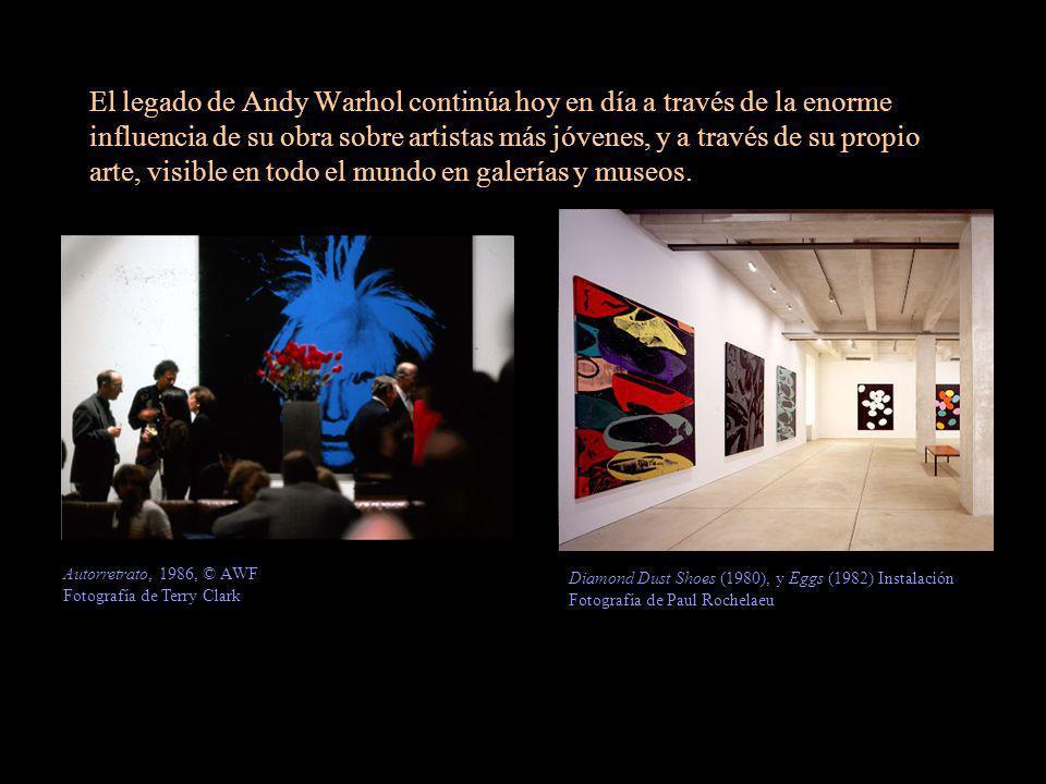 El legado de Andy Warhol continúa hoy en día a través de la enorme influencia de su obra sobre artistas más jóvenes, y a través de su propio arte, vis