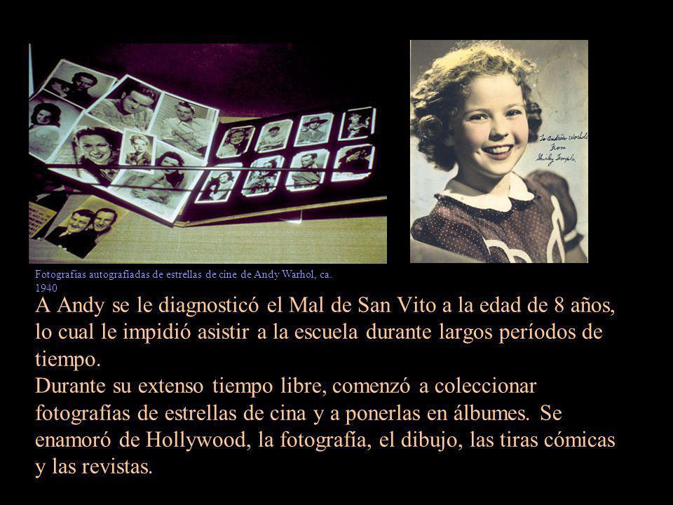 La familia Warhola family mimaba a Andy y le compraron una cámara en 1937.