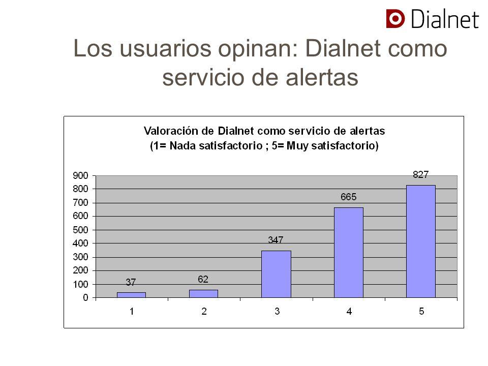 Los usuarios opinan: Dialnet como servicio de alertas