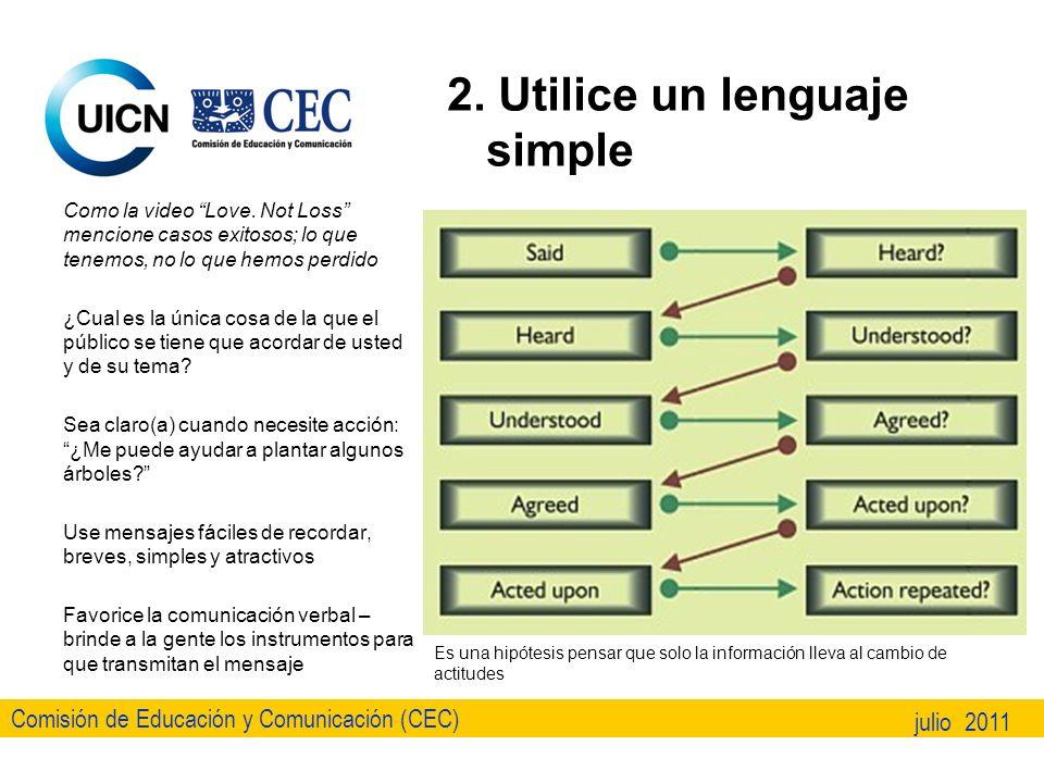 Comisión de Educación y Comunicación (CEC) julio 2011 3.