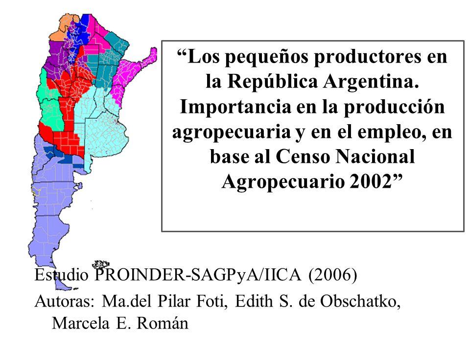 -El CNA 2002 contabilizó 333.477 EAP en todo el país, 87.000 EAP menos (21%) que el CNA 1988 - En tanto que la superficie total de las EAP disminuyó entre Censos en 2,6 millones de ha (1,5%).