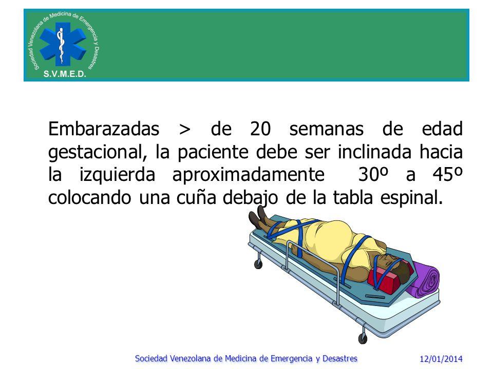 12/01/2014 Sociedad Venezolana de Medicina de Emergencia y Desastres