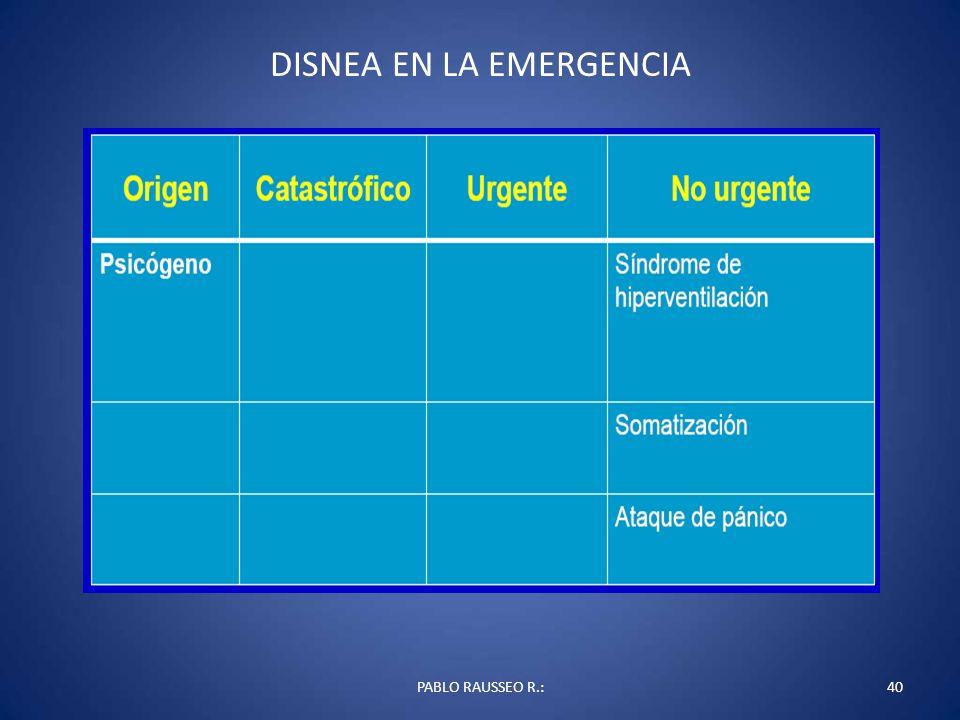 DISNEA EN LA EMERGENCIA PABLO RAUSSEO R.:40