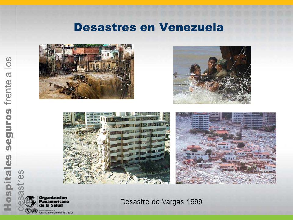 Hospitales seguros frente a los desastres Desastres en Venezuela Desastre de Vargas 1999