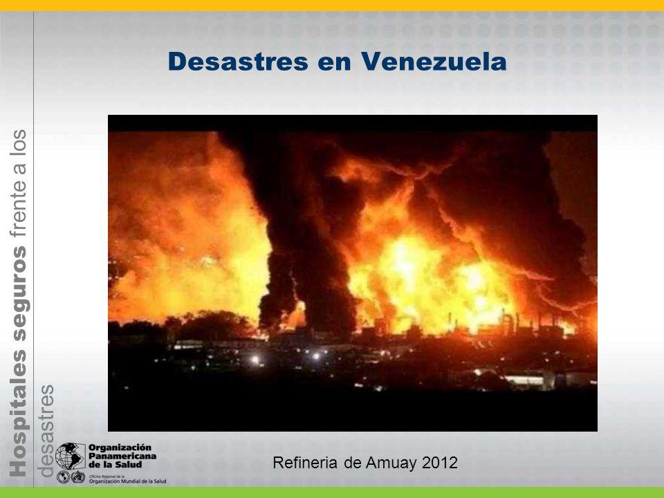 Hospitales seguros frente a los desastres Desastres en Venezuela Refineria de Amuay 2012