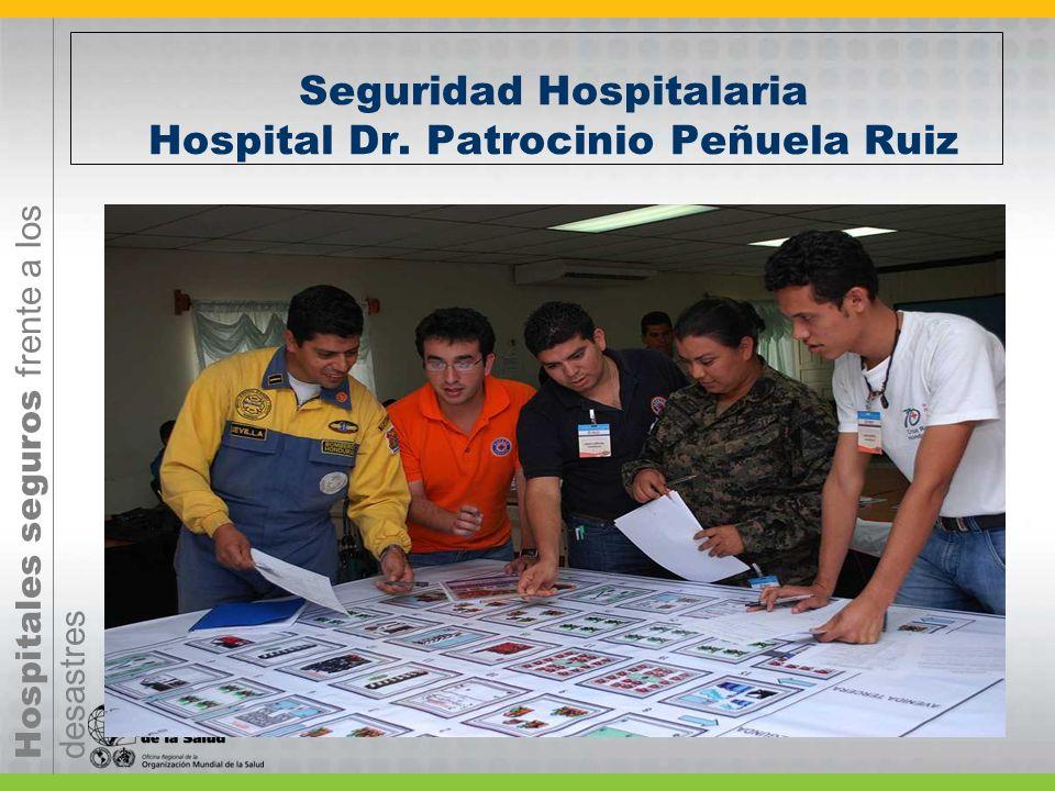 Hospitales seguros frente a los desastres Seguridad Hospitalaria Hospital Dr. Patrocinio Peñuela Ruiz
