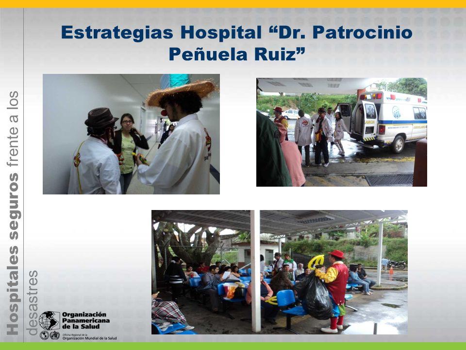 Hospitales seguros frente a los desastres Estrategias Hospital Dr. Patrocinio Peñuela Ruiz