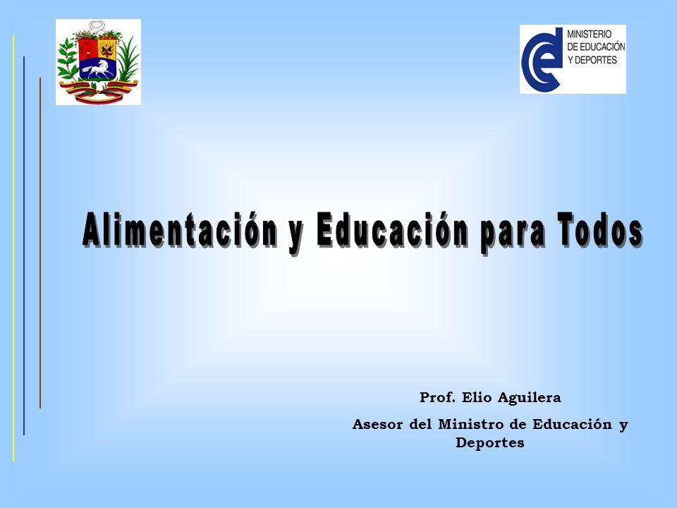 Prof. Elio Aguilera Asesor del Ministro de Educación y Deportes