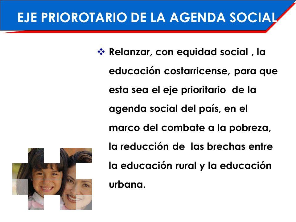 ÁREAS PRIORITARIAS 4 3 Educación secundaria y técnica Calidad de la Educación Programas de Equidad Educación rural 1 2
