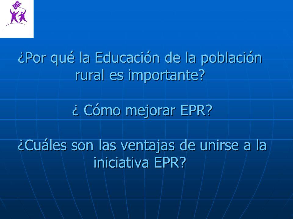 ¿Por qué la Educación de la población rural es importante.