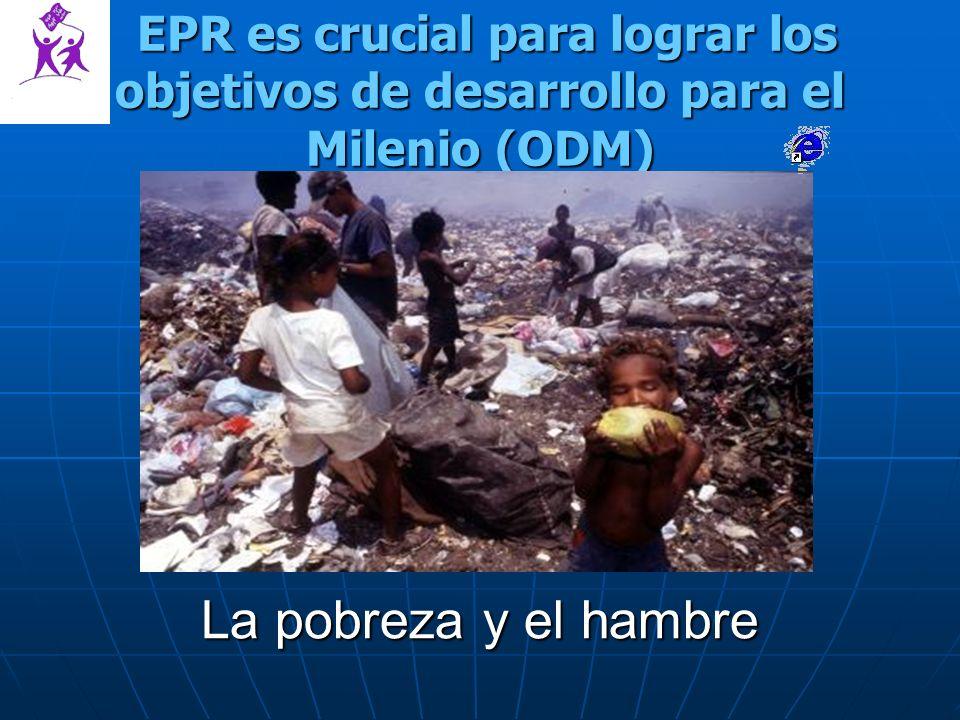 EPR es crucial para lograr los objetivos de desarrollo para el Milenio (ODM) EPR es crucial para lograr los objetivos de desarrollo para el Milenio (ODM) La pobreza y el hambre